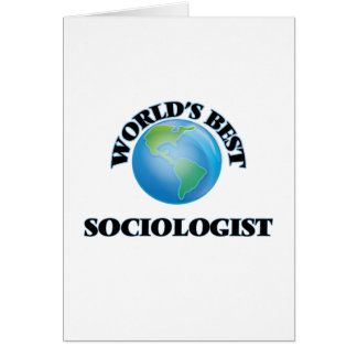 World's Best Sociologist Card
