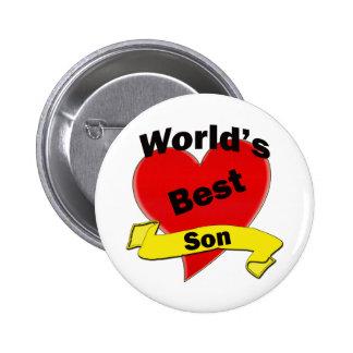 World's Best Son 6 Cm Round Badge