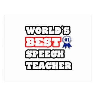 World's Best Speech Teacher Postcard