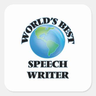 World's Best Speech Writer Square Sticker