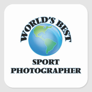 World's Best Sport Photographer Square Sticker