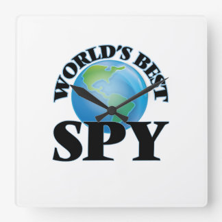 World's Best Spy Square Wall Clock