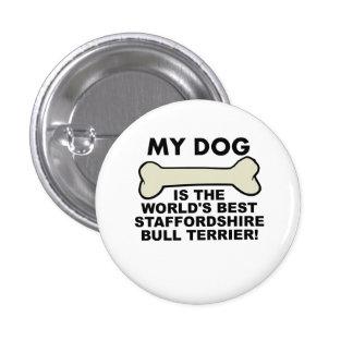 World's Best Staffordshire Bull Terrier 3 Cm Round Badge