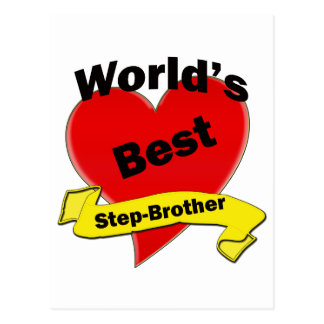 World's Best Step-Brother Postcard