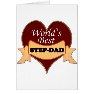 World's Best Step-Dad Greeting Card