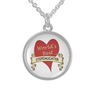 World's Best Stepdaughter Sterling Silver Necklace