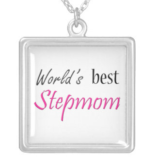 World's Best Stepmom Silver Plated Necklace