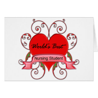 World's Best Student Nurse Card