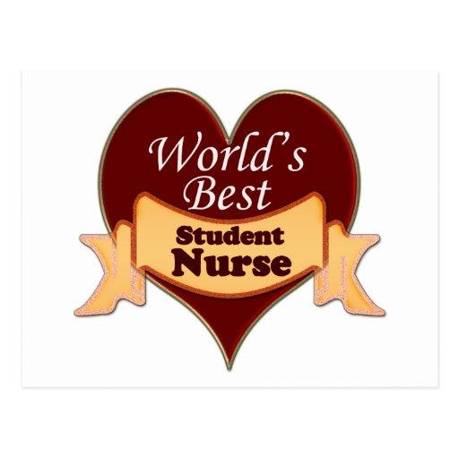 World's Best Student Nurse Post Card