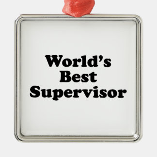 World's Best Supervisor Christmas Ornament