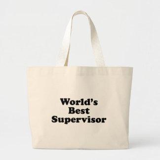 World's Best Supervisor Large Tote Bag
