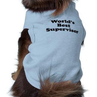 World's Best Supervisor Sleeveless Dog Shirt