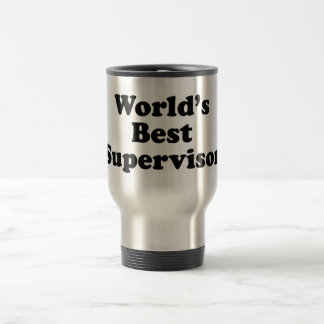 World's Best Supervisor Stainless Steel Travel Mug