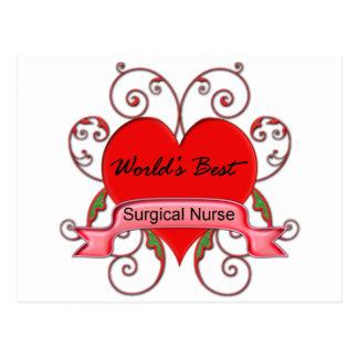World's Best Surgical Nurse Postcard