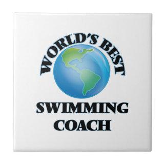 World's Best Swimming Coach Ceramic Tile