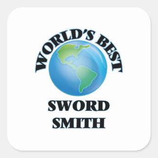 World's Best Sword Smith Square Sticker
