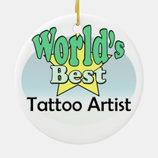 World's best Tattoo Artist Christmas Ornament