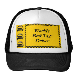 Worlds Best Taxi Driver Checkerboard Hat