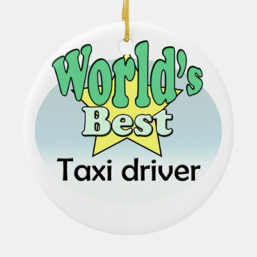 World's best taxi driver ornaments