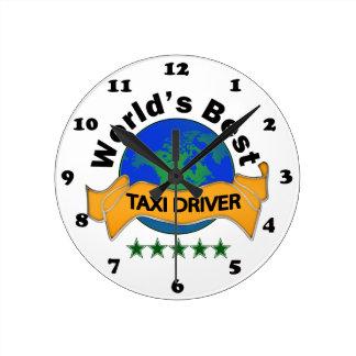 World's Best Taxi Driver Wall Clocks