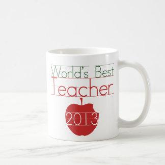 Worlds Best Teacher 2013 Basic White Mug