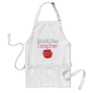 Worlds best Teacher 2014 Standard Apron
