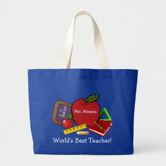 World's Best Teacher 2 Large Tote Bag