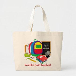 World's Best Teacher 5 Jumbo Tote Bag