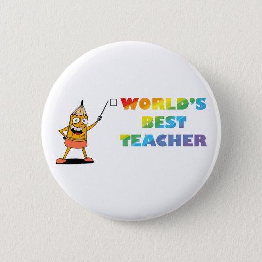 world's best teacher 6 cm round badge