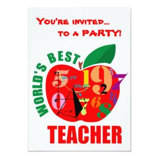 World's Best Teacher Apple Invitation