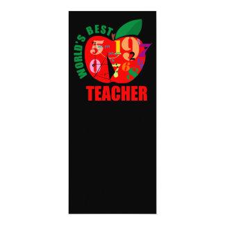 "World's Best Teacher Apple 4"" X 9.25"" Invitation Card"