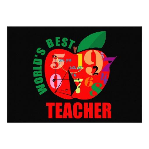 World's Best Teacher Apple Announcements