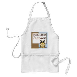 Worlds Best Teacher Aprons