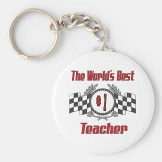 World's Best Teacher Basic Round Button Key Ring