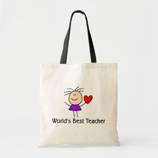 World's Best Teacher Budget Tote Bag
