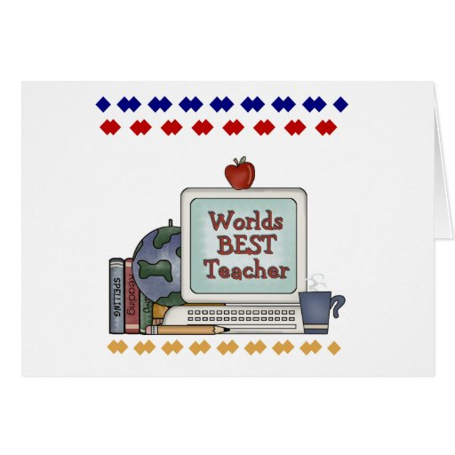 Worlds Best Teacher Card
