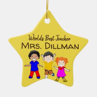 World's Best Teacher Christmas Ornament