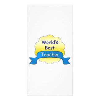 World's Best Teacher Customised Photo Card