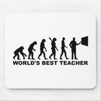 World's best Teacher Evolution Mouse Pad