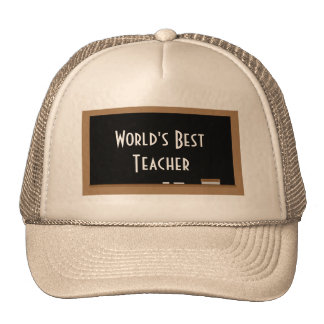 """World's Best Teacher"" Hat"