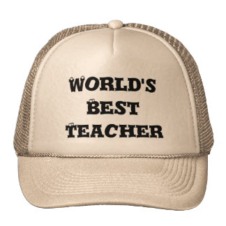World's best teacher hat
