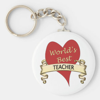 World's Best Teacher Key Ring
