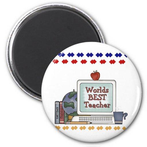Worlds Best Teacher Refrigerator Magnet