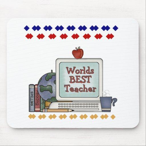 Worlds Best Teacher Mouse Pads