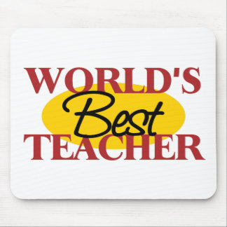 World's Best Teacher Mousepad