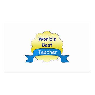 World's Best Teacher Pack Of Standard Business Cards