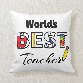 World's Best Teacher Pillow