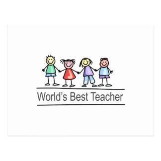 World's Best Teacher Postcard