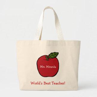 World's Best Teacher (red) Jumbo Tote Bag