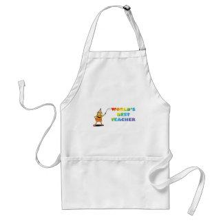 world's best teacher standard apron